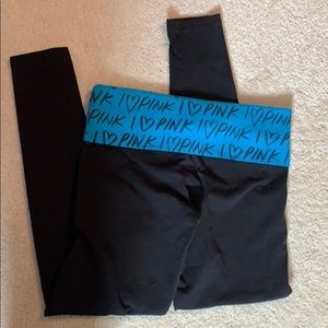 🎈2/$12 PINK yoga fold over leggings